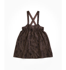 PLAY UP Kleid 'Jacquard Dress' WALNUT