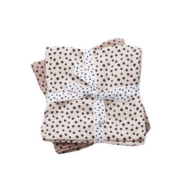 DONE BY DEER Mulltücher  2-pack 'Happy Dots Powder' Large