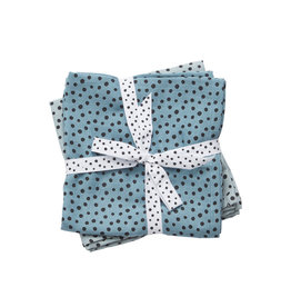 DONE BY DEER Mulltücher  2-pack 'Happy Dots Blue' Large