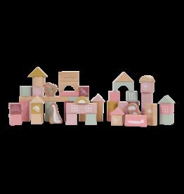 LITTLE DUTCH Bausteine Holz 'rosa' in Box