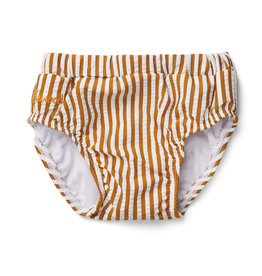 LIEWOOD Badehose 'Frej' Seersucker Stripe Mustard/white