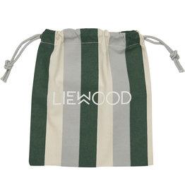 LIEWOOD Geschenkbeutel 'Stripe Garden green/sandy/dove blue' XS