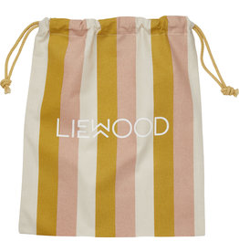 LIEWOOD Geschenkbeutel 'Stripe Peach/sandy/yellow mellow' Small