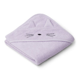 LIEWOOD Kapuzenhand-tuch 'Albert' Cat light lavender