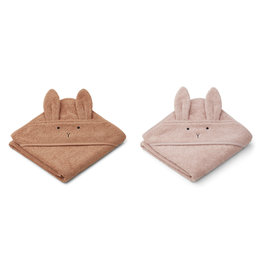 LIEWOOD Kapuzenhand-tücher 'Albert' Rabbit tuscany rose mix 2er-Pack
