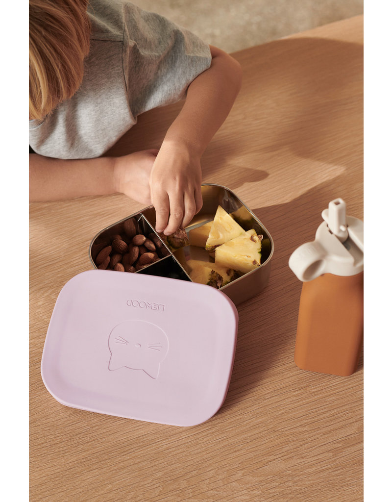 LIEWOOD Lunchbox 'Arthur'  Cat light lavender