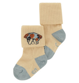 Soft Gallery Baby Socken 'Gardenia Blockcolor Dog' Boy