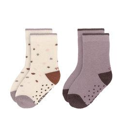 LÄSSIG  Antirutsch-Socken 'Tiny Farmer Lilac'