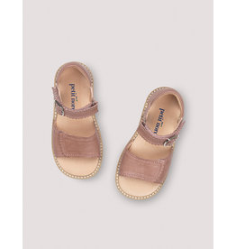 Petit Nord Sandale Velcro 'Scallop' Old rose
