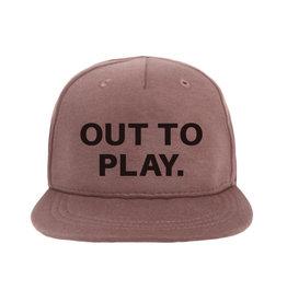 VANPAULINE Cap 'OUT TO PLAY' Dark Pink