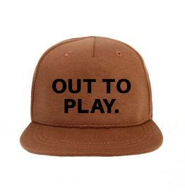 VANPAULINE Cap 'OUT TO PLAY' Caramel