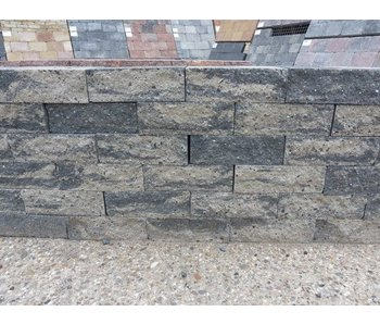 Mauerstein grau/schwarz 2seitig gebrochen 30x20x10
