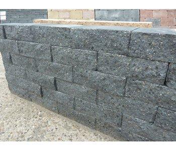 Mauerstein schwarz 2seitig gebrochen 30x20x10