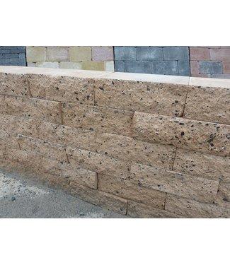 Mauerstein creme 2seitig gebrochen 30x20x10