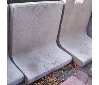 L Steine Grau 100x50x7 cm