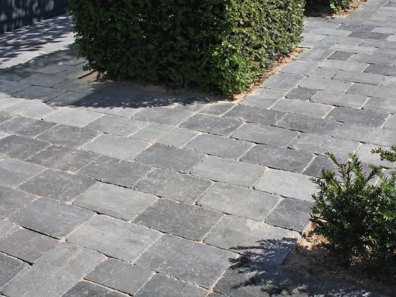 Altstadtpflaster Antik grau-schwarz 20x30x6