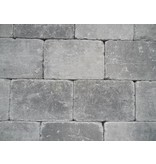 Altstadtpflaster Antik grau-schwarz 15x20x6