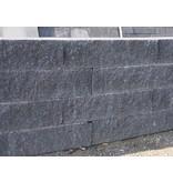 Mauerstein Wallblock Splitt Anthrazit 2 seitig Gebrochen 60x15x12 cm
