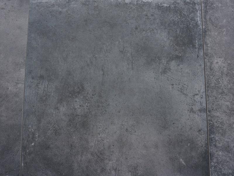 Keramische Terrassenplatte Ultra Gare Graphit 60x60x3