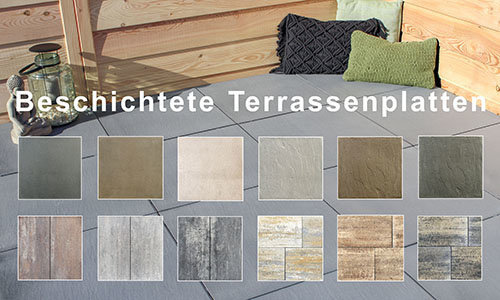 Beschichtete Terrassenplatten