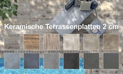 Keramische Terrassenplatten 2 cm