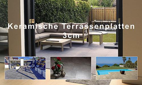 Keramische Terrassenplatten 3 cm