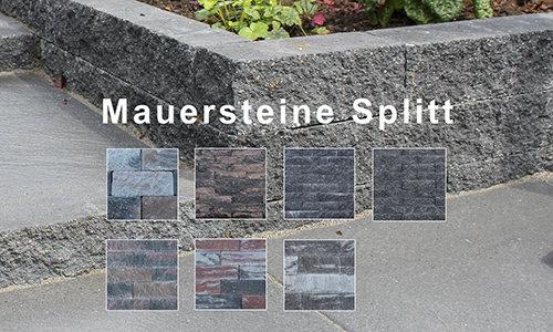 Mauersteine Splitt