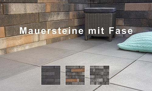 Mauersteine mit Fase