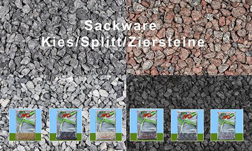 Sackware Kies / Splitt / Ziersteine