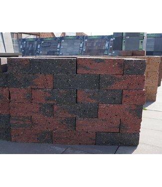 Mauerstein Rot/Schwarz gebrochen