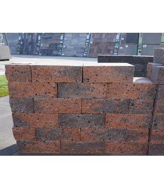 Mauerstein braun/schwarz 2seitig gebrochen 30x20x10
