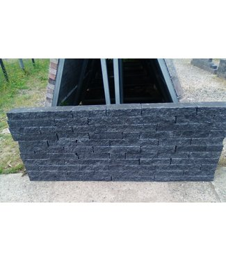 Wallblock Splitt Anthrazit Wildverband 12 cm