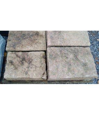 6 Blockstufen Roter Granit 50x35x15 cm