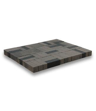 Dickformat Grau/Schwarz scharfkantig 20x6,5x6,5 cm