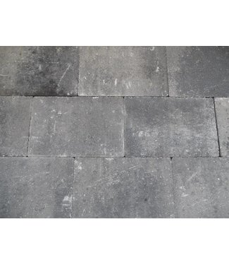 Altstadtpflaster Scharfkantig Grau-Schwarz 30x20x6 cm