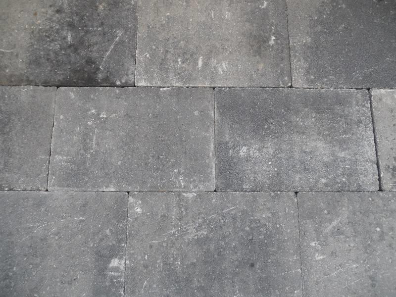 Altstadtpflaster Scharfkantig grau-schwarz 20x30x6
