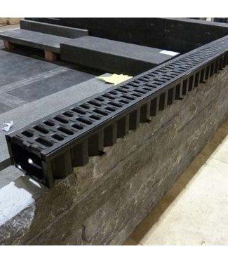 Rinne 1 Meter Schwarz Gitter