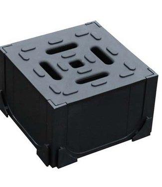 Hexaline Eckstück schwarz 125x125x78 mm