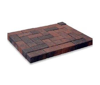 Rechteckpflaster Rot/Schwarz mit Fase 21x10,5x8 cm