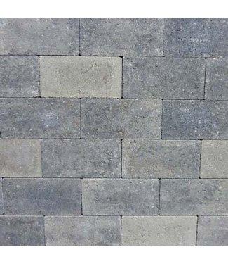Rechteckpflaster Grau/Schwarz scharfkantig 21x10,5x7 cm