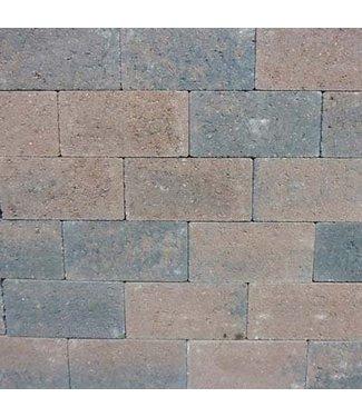 Rechteckpflaster Braun/Schwarz scharfkantig 21x10,5x7 cm