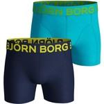 Björn Borg Heren 2 Pack Shorts - Neon Solid