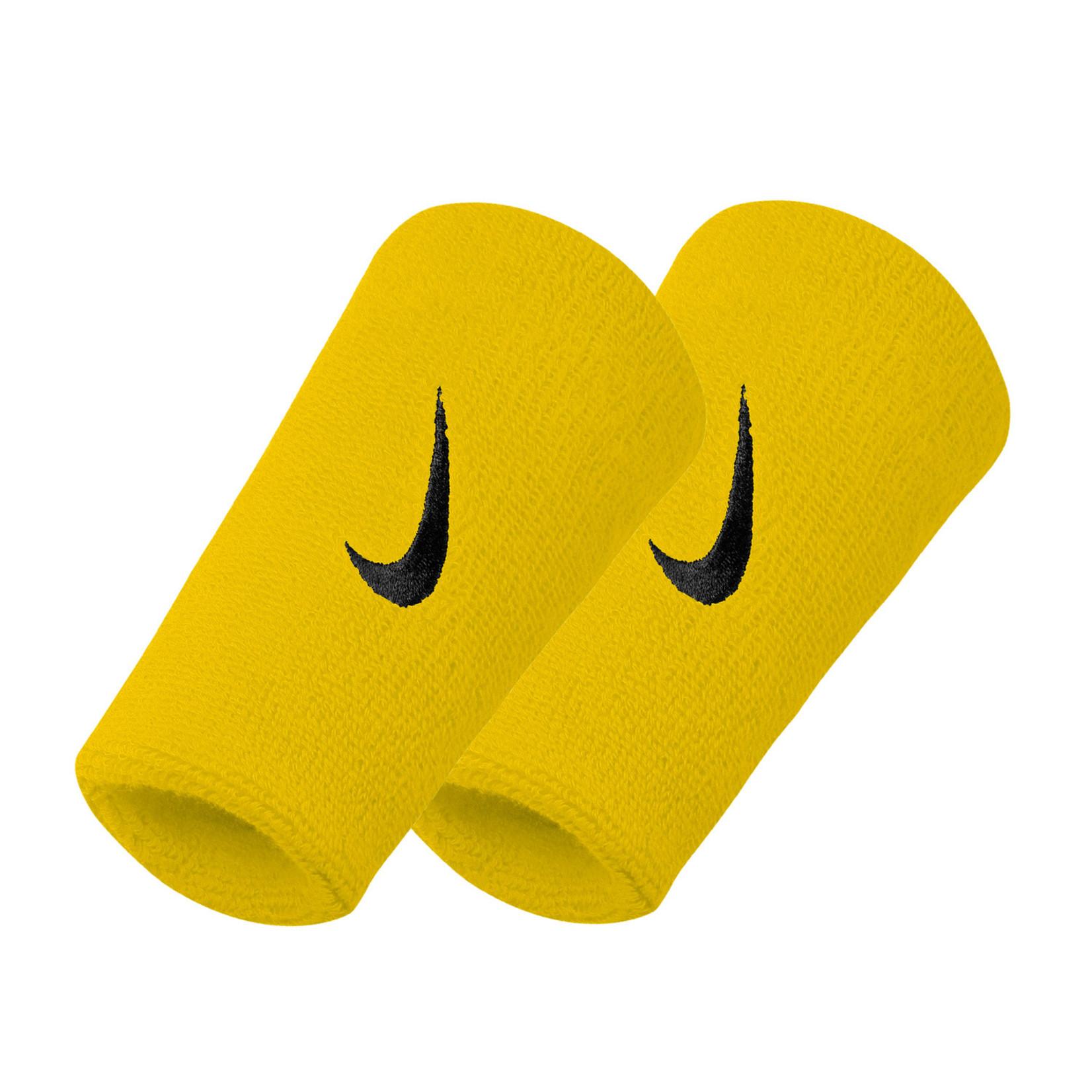 Nike Swoosh Dubbele Polsband Geel