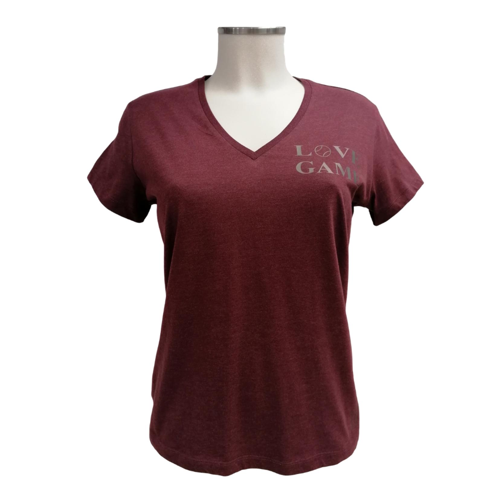 Verloy Dames Organic Cotton V-Neck Love Game T-shirt