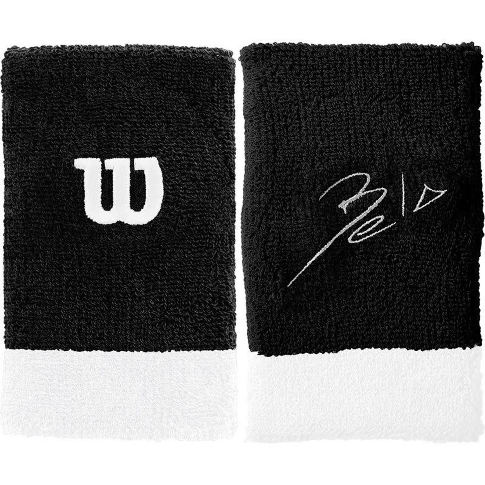 Wilson Bela Extra Brede Polsbanden - Zwart/Wit