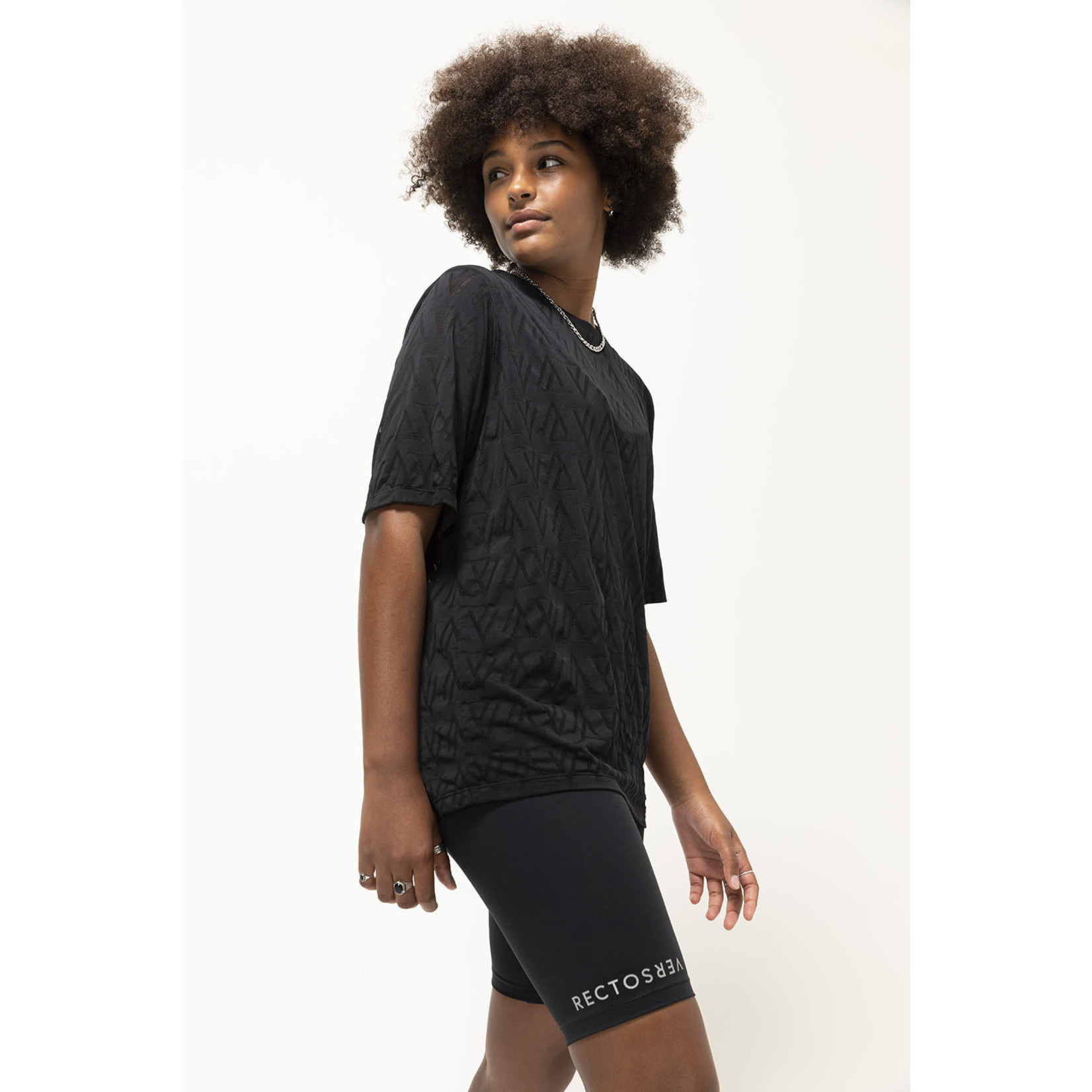 Recto Verso Dames Black Out T-shirt