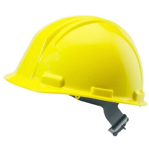 M-Safe M-Safe veiligheidshelm, bouwhelm MH6010 - geel - draaiknopinstelling - 6-punts