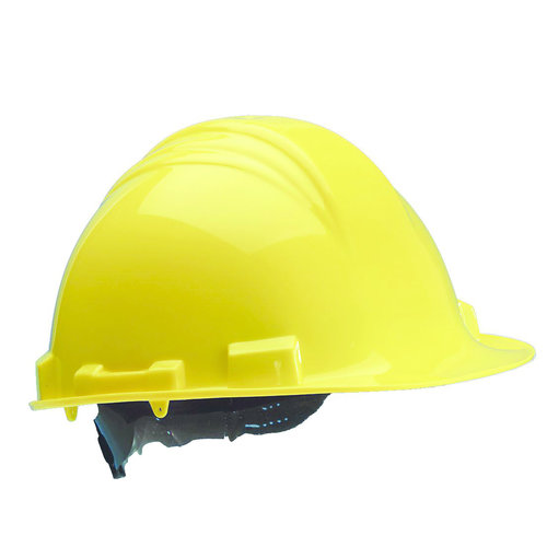 M-Safe M-Safe veiligheidshelm, bouwhelm MH6000 geel PE 6-punts