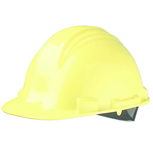 Honeywell North veiligheidshelm, bouwhelm A79 geel 4-punts textiel binnenw. en zweetb.