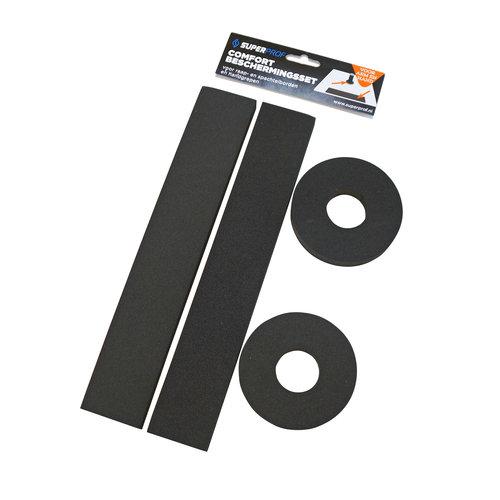 Super Prof  Comfort beschermingsset voor raap- spachtelborden en handgrepen,2 x beschermingsstrip 300x50x15mm zelfklevend en 2 x bescherming handgreep Ø95xØ35x15mm, niet zelfklevend.